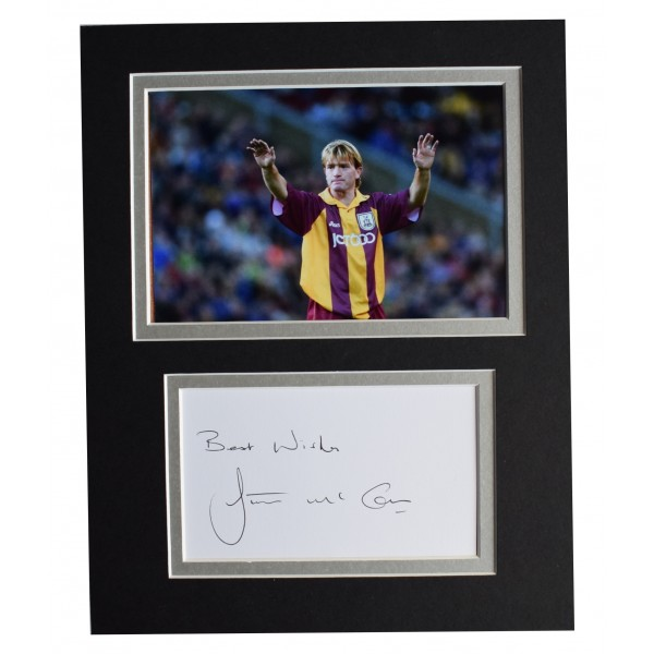 Stuart McCall Signed Autograph 10x8 photo display Bradford City AFTAL COA Perfect Gift Memorabilia