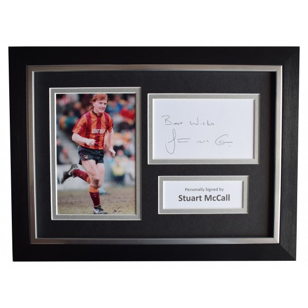 Stuart McCall Signed A4 Framed Autograph Photo Display Bradford city AFTAL COA Perfect Gift Memorabilia