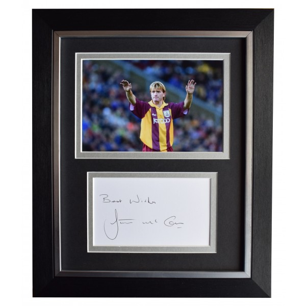 Stuart McCall Signed 10x8 Framed Autograph Photo Display Bradford City AFTAL COA Perfect Gift Memorabilia