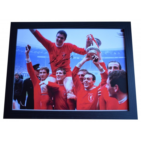 Ron Yeats Signed Autograph 16x12 framed photo display Liverpool AFTAL COA  Perfect Gift Memorabilia