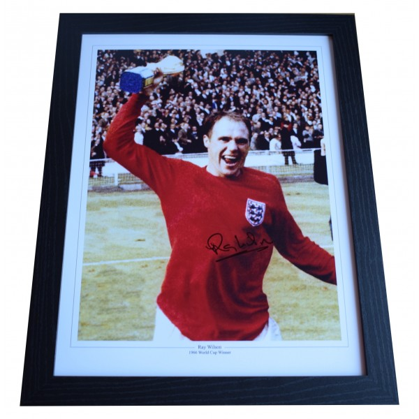 Ray Wilson Signed Autograph 16x12 framed photo display England 1966 World Cup Perfect Gift Memorabilia
