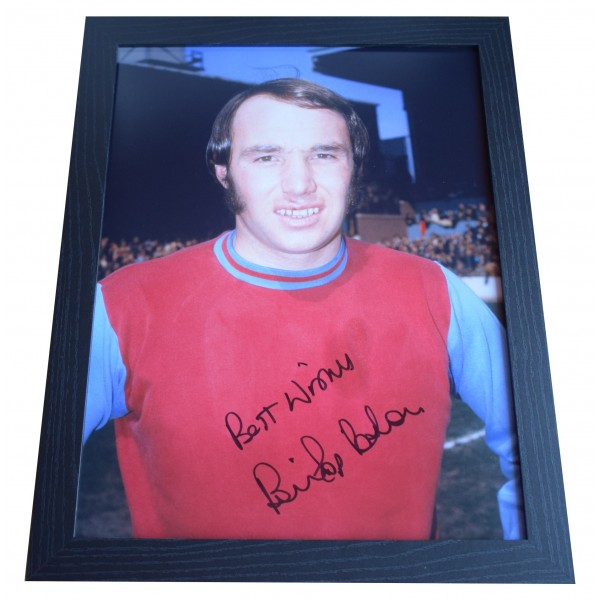 Bryan 'Pop' Robson Signed Autograph 16x12 framed photo display West Ham Utd COA  Perfect Gift Memorabilia