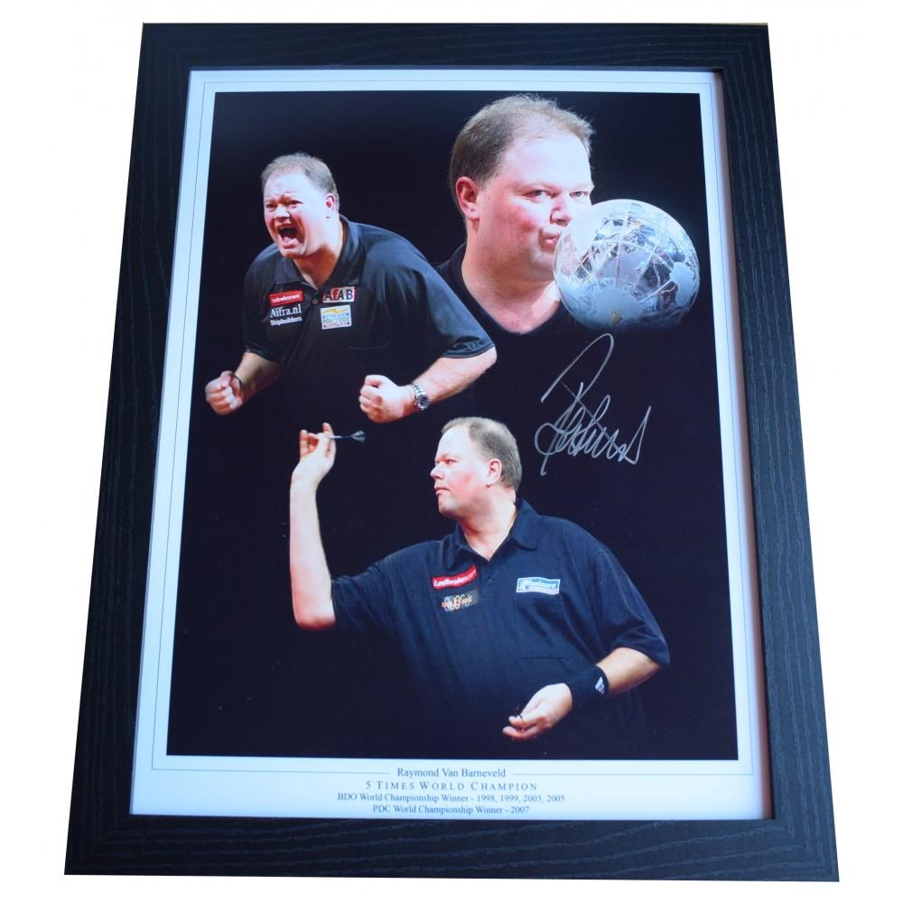 Raymond Van Barneveld Signed Photo Large Framed Display Darts Autograph COA