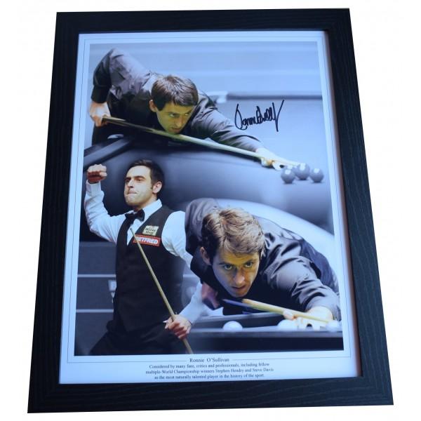 Ronnie O'Sullivan Signed Autograph 16x12 framed photo display Snooker AFTAL COA Perfect Gift Memorabilia