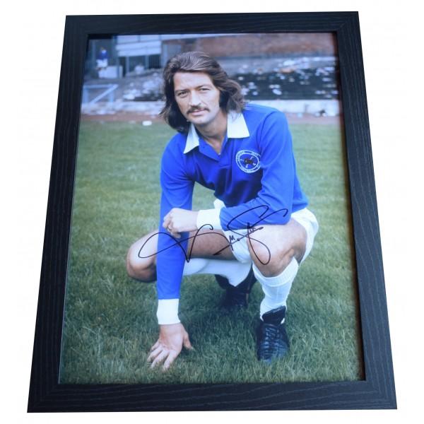 Frank Worthington Signed Autograph 16x12 framed photo display Leicester City COA  Perfect Gift Memorabilia