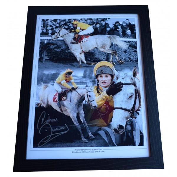 Richard Dunwoody Signed Autograph 16x12 framed photo display Horse Racing COA Perfect Gift Memorabilia